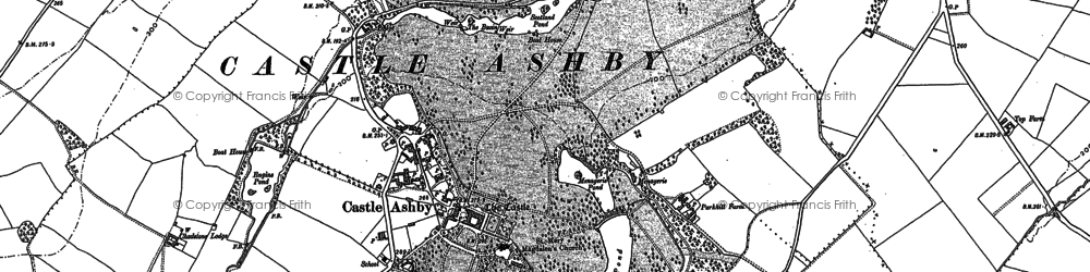 Old map of Castle Ashby in 1899