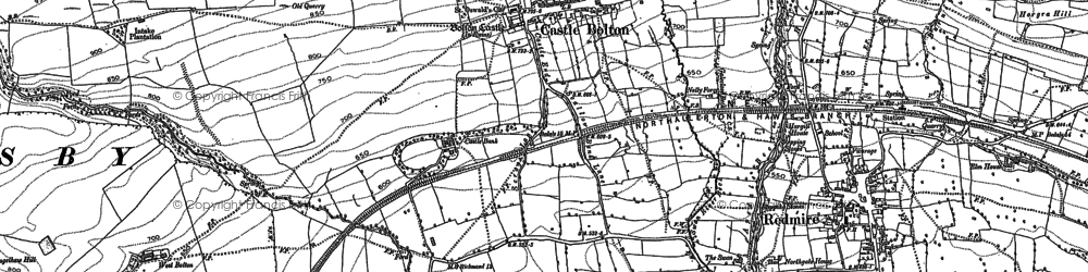 Old map of Castle Bolton in 1891