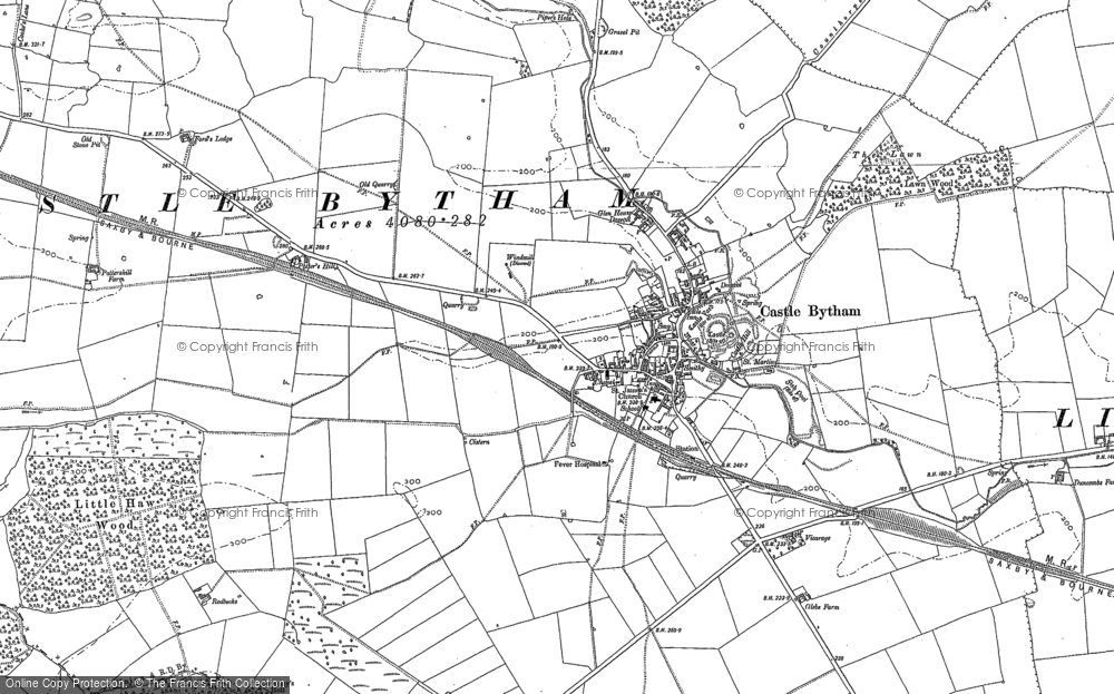 Old Map of Castle Bytham, 1887 - 1903 in 1887