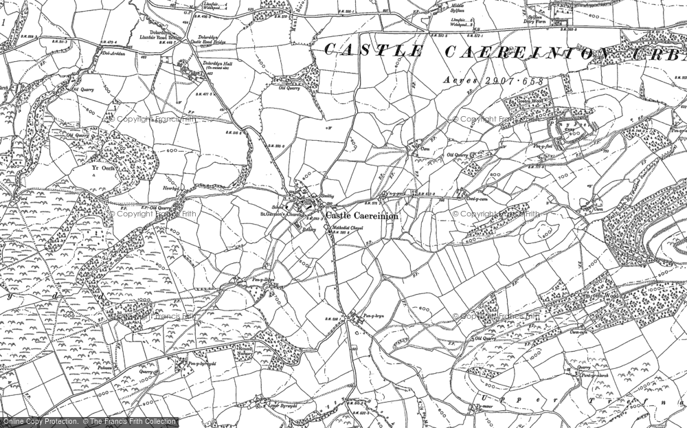 Old Map of Historic Map covering Ashton in 1884