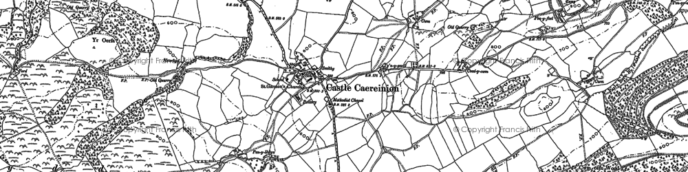 Old map of Ashton in 1884