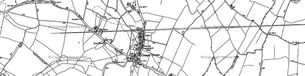 Old map of Nosterfield End in 1901