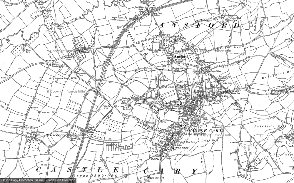 Old Map of Castle Cary, 1885 in 1885