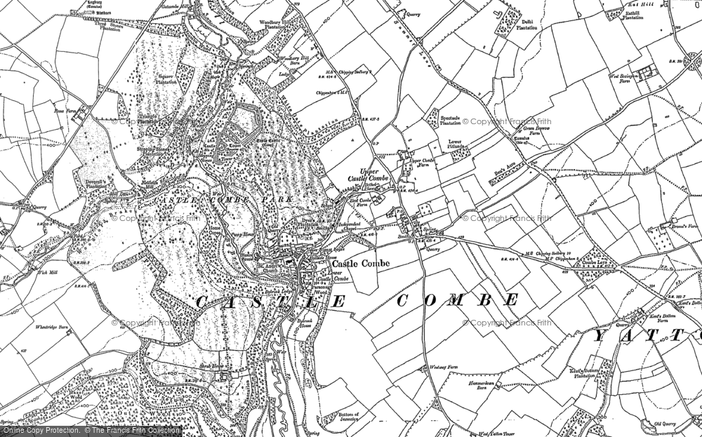 Old Map of Castle Combe, 1899 - 1920 in 1899