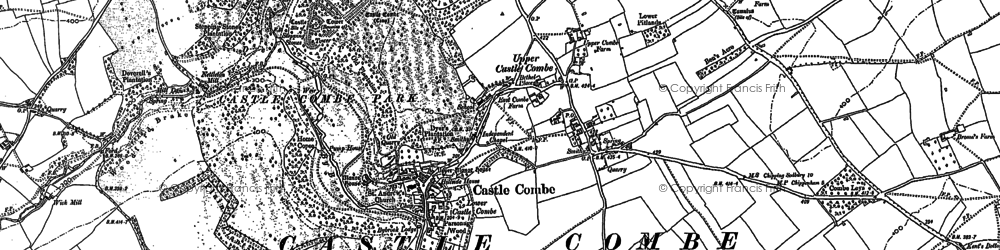 Old map of Castle Combe in 1899