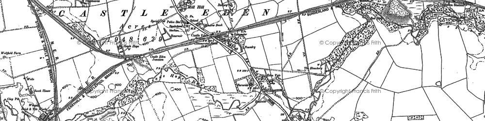 Old map of Castle Eden in 1896