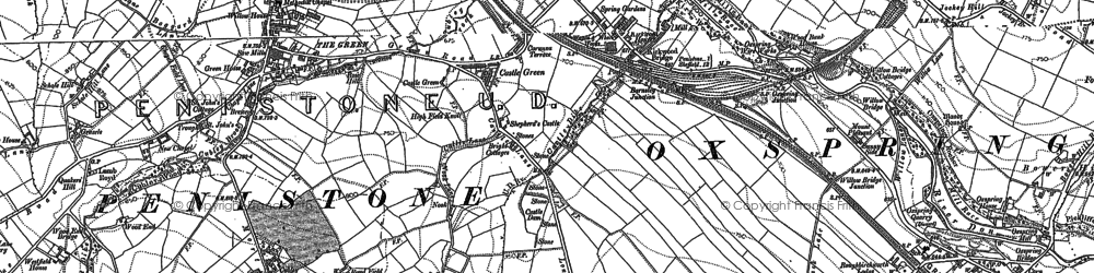 Old map of Castle Green in 1891
