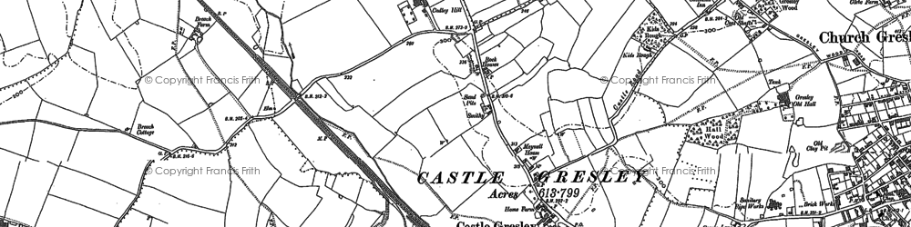 Old map of Mount Pleasant in 1900