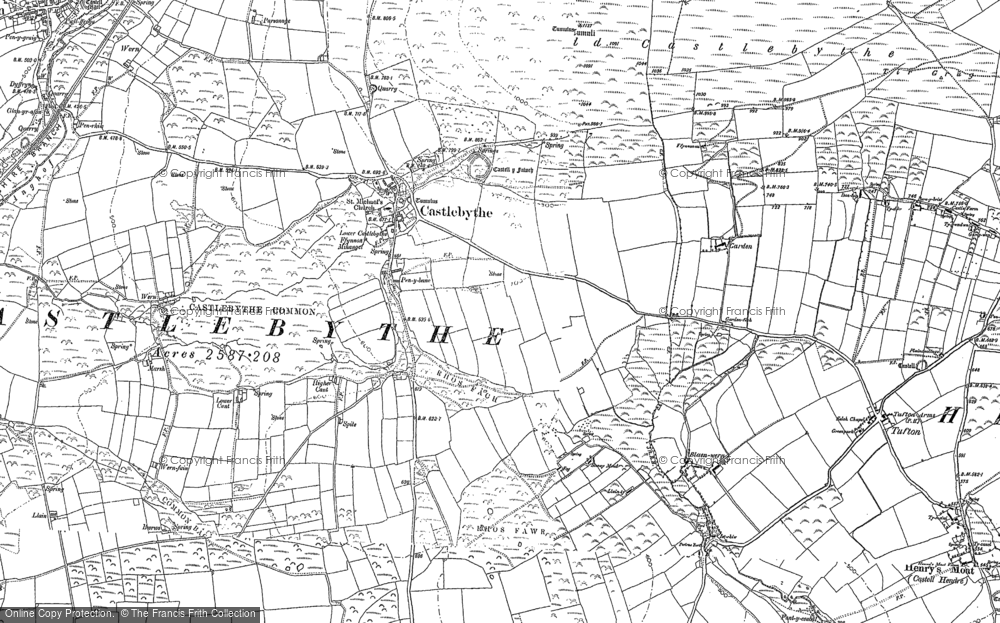 Old Map of Historic Map covering Afon Anghof in 1888