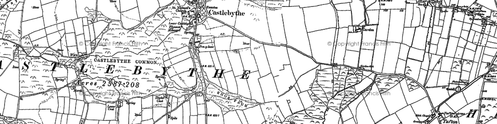 Old map of Windy Hill in 1888