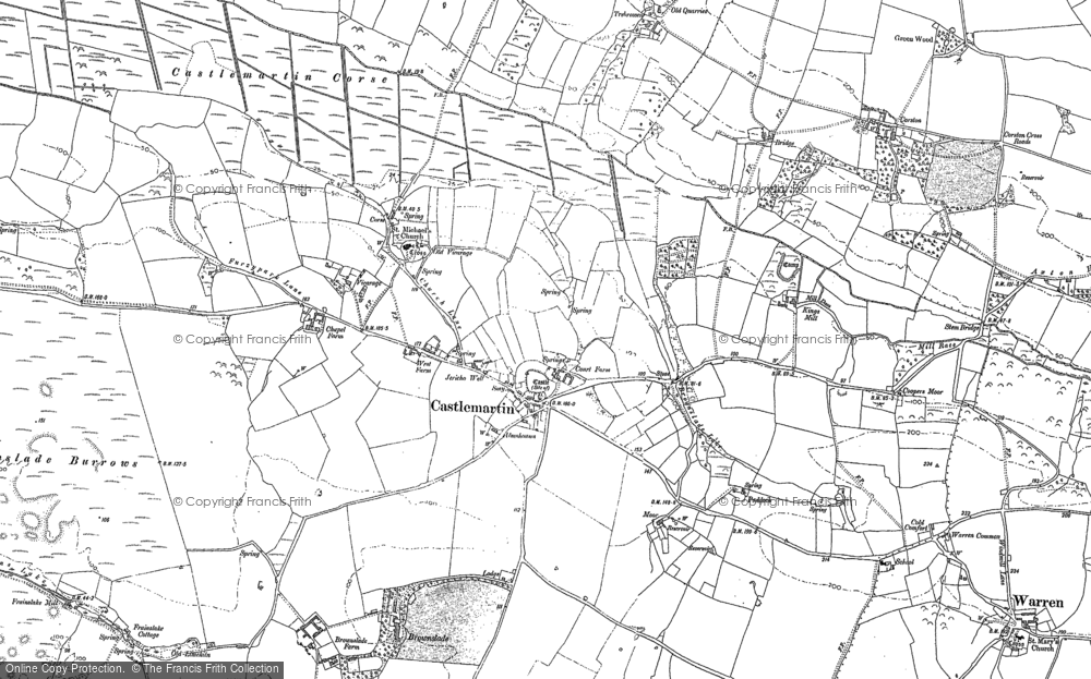 Old Map of Historic Map covering Linney Burrows in 1948