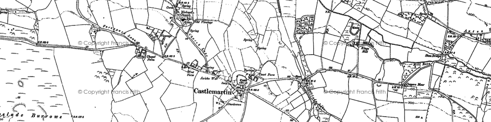 Old map of Castlemartin in 1948