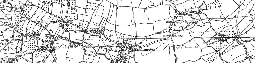 Old map of Castlemorton in 1883