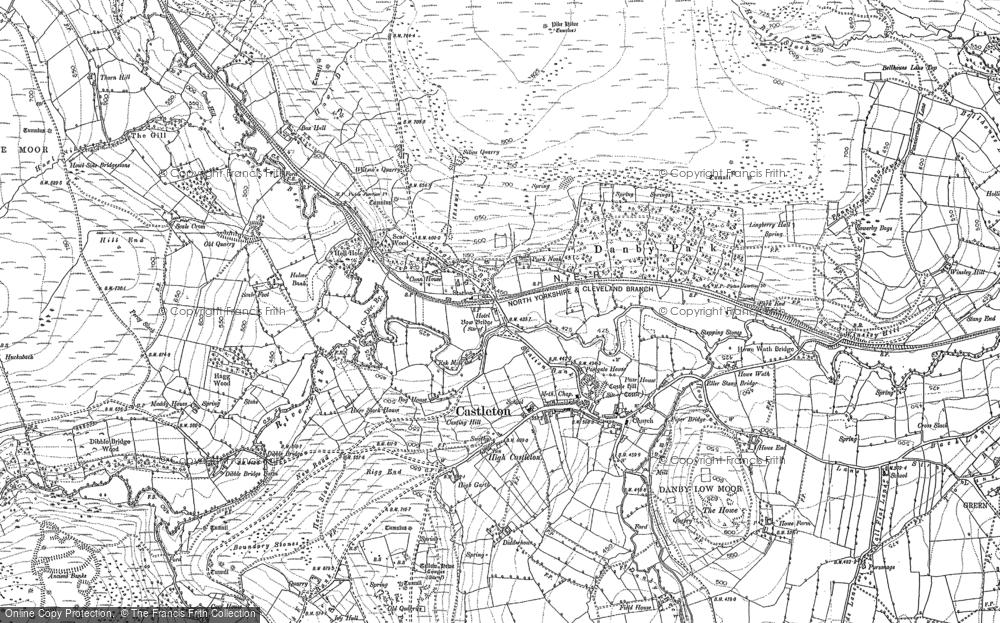 Old Map of Castleton, 1892 in 1892