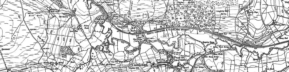 Old map of Castleton in 1892