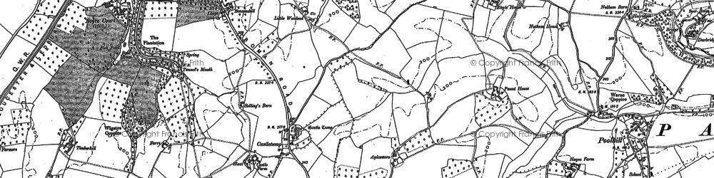 Old map of Aylesmore in 1882