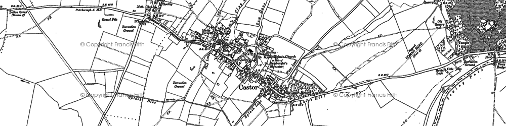 Old map of Castor in 1899