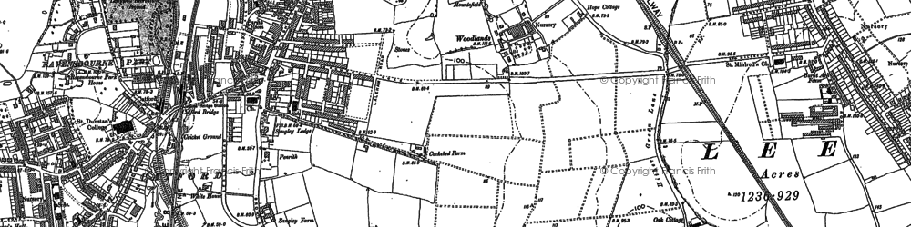 Old map of Hither Green in 1894