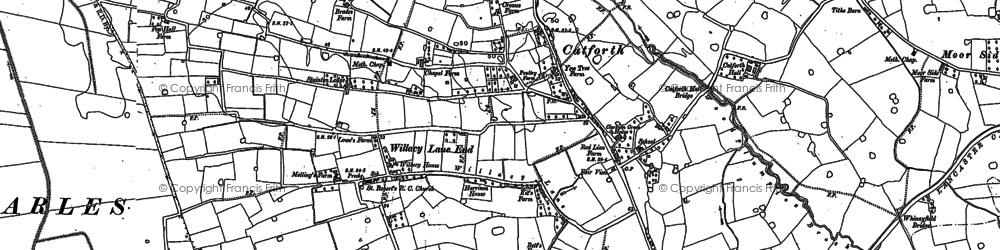 Old map of Catforth in 1892