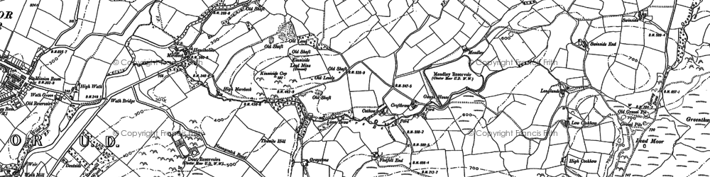 Old map of Lanefoot in 1897