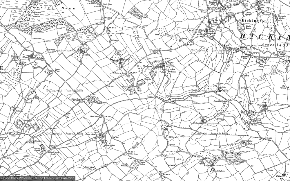 Old Map of Historic Map covering Alston in 1885