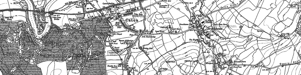 Old map of Caton in 1910