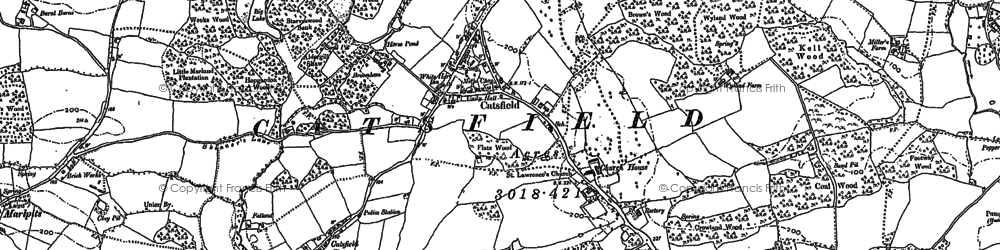 Old map of Catsfield in 1897
