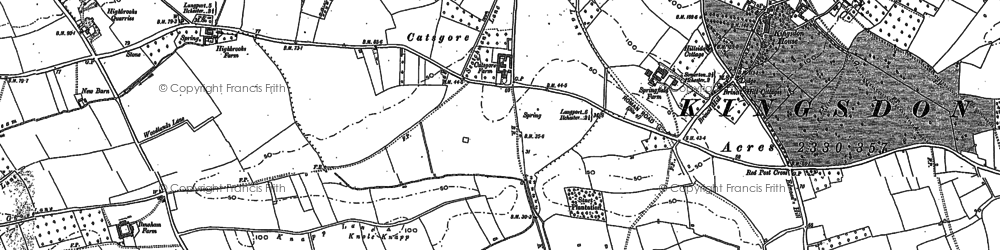 Old map of Ashen Cross in 1885