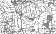 Old Map of Catsham, 1885
