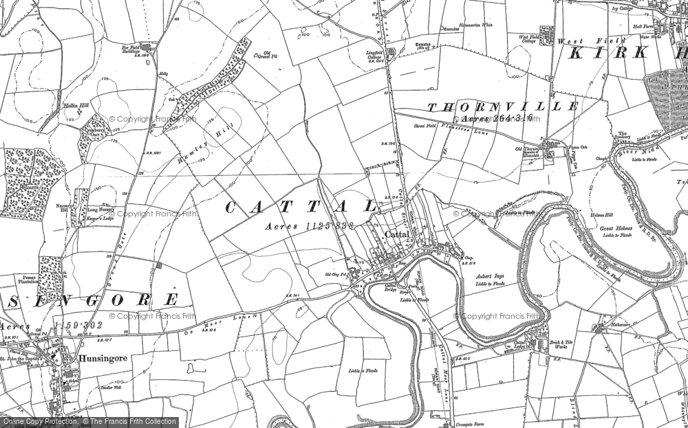 Old Map of Historic Map covering Lingfield Cottage in 1892