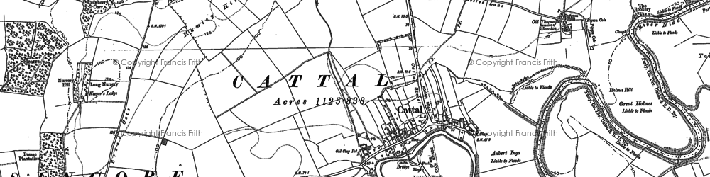 Old map of Lingfield Cottage in 1892