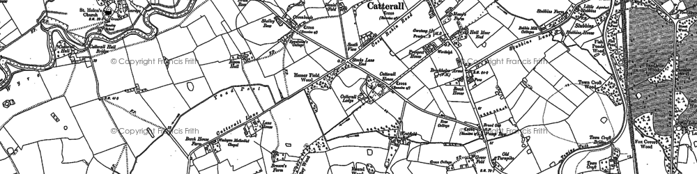 Old map of Westfield in 1910