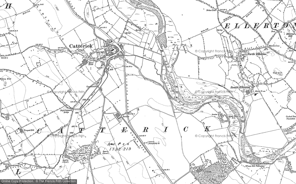 Map of Catterick, 1891
