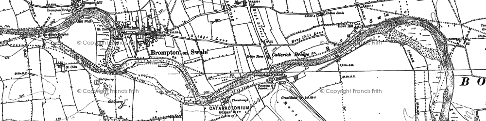 Old map of Brompton-on-Swale in 1891