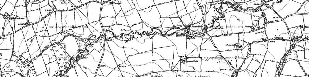 Old map of Whinny Hill in 1891