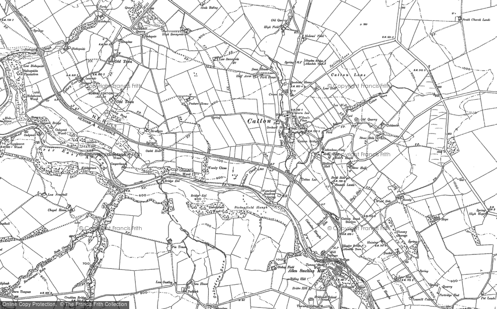 Old Map of Catton, 1895 in 1895