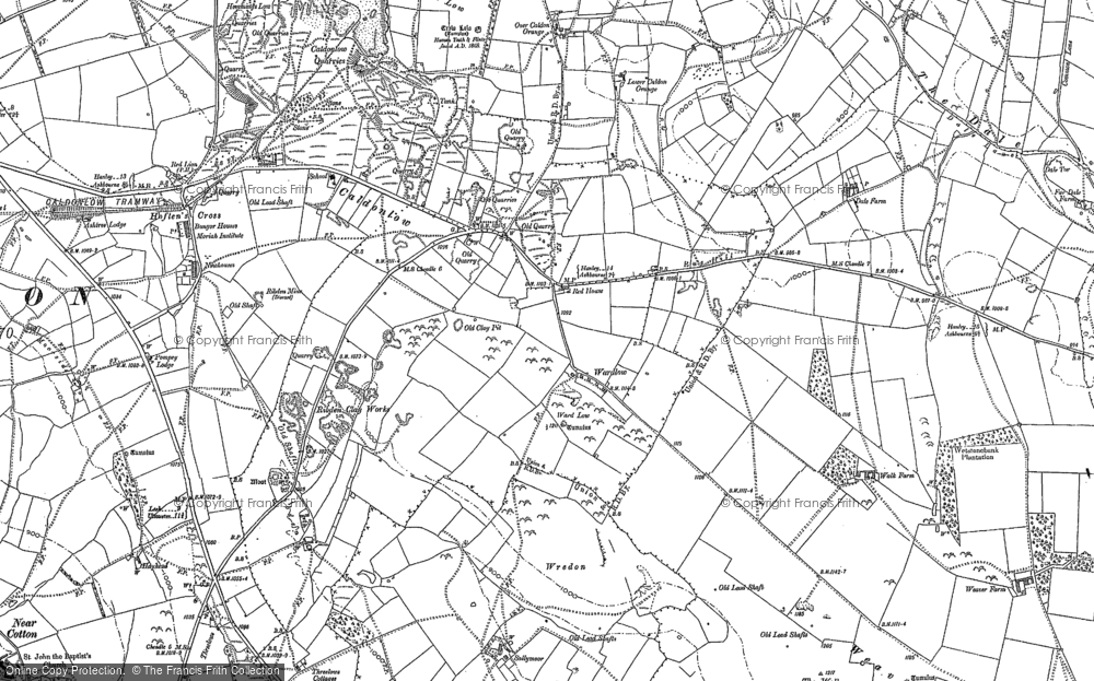 Old Map of Historic Map covering Wredon in 1898
