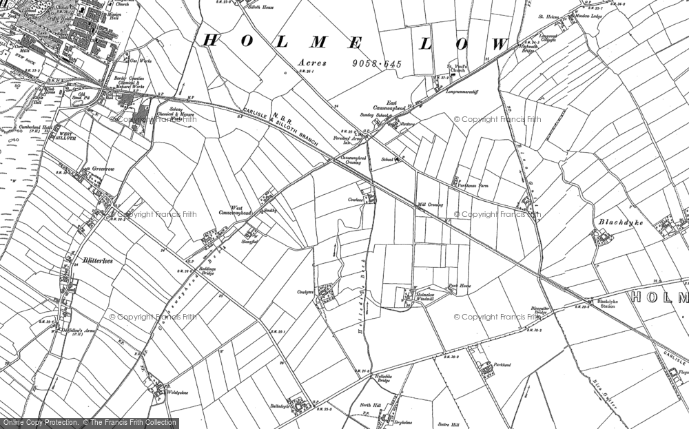 Old Map of Historic Map covering Balladoyle in 1899