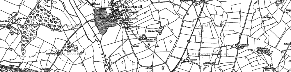 Old map of Tickhill in 1879