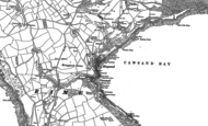 Old Map of Cawsand, 1886