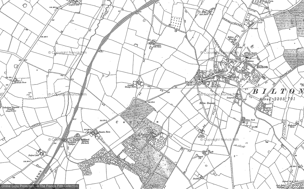 Old Map of Historic Map covering Lime Tree Village in 1903