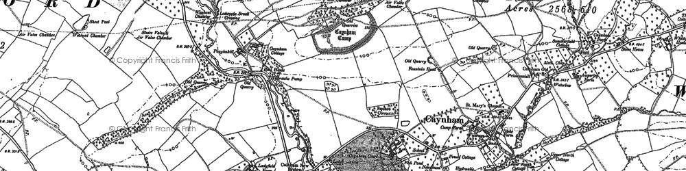 Old map of Ledwyche Brook in 1884