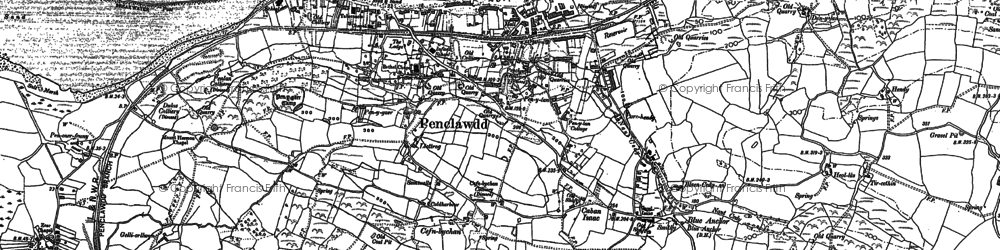 Old map of Cefn-bychan in 1896