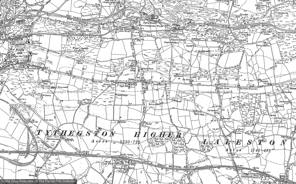 Old Map of Historic Map covering Ton Philip in 1897