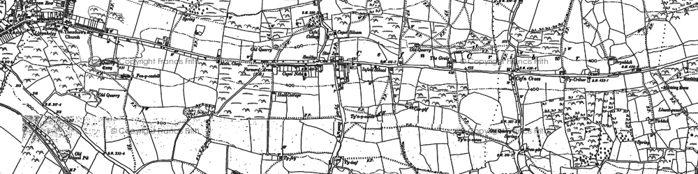 Old map of Ton Philip in 1897