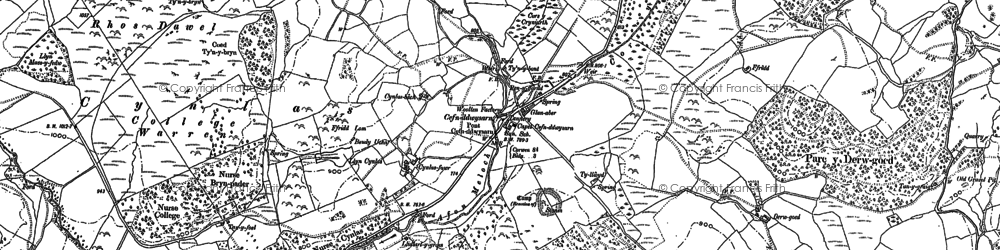 Old map of Lily's Wood in 1886