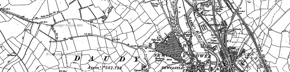 Old map of Cefn Glas in 1913