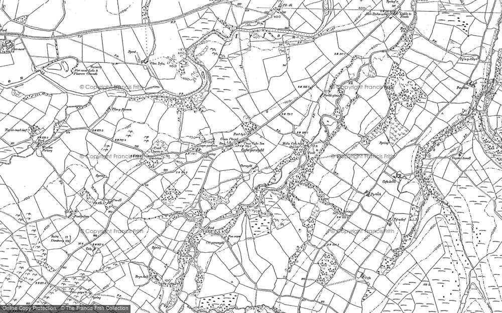 Old Map of Cefn-gorwydd, 1887 in 1887