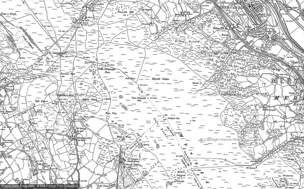 Old Map of Cefn Pennar, 1898 - 1915 in 1898