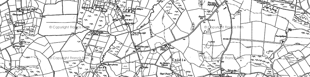 Old map of Wyddgrug in 1899